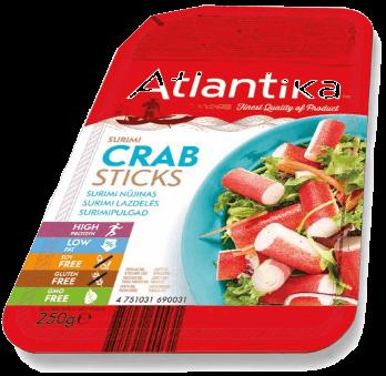 Упаковка крабових паличок Atlantika 250 грам
